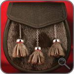 Мужские кожаные сумки - Спорран из нерпы