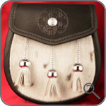 Мужские кожаные сумки - Тесненный спорран