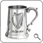 оловянная пивная кружка в Ирландском стиле