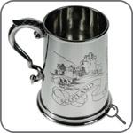 Английский пивной бокал - танкард с шотлансдкой гравюрой