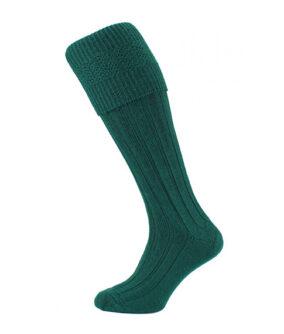 Шерстяные носки под килт зеленого цвета.