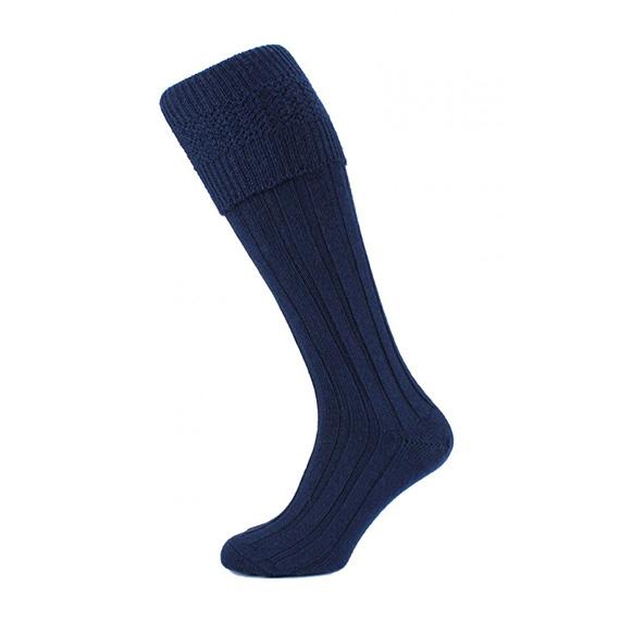 Шерстяные носки под килт темно-синего цвета.