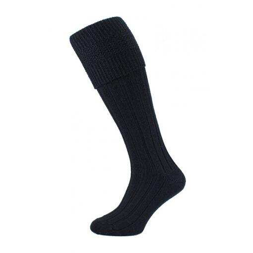 Шерстяные носки под килт черного цвета.