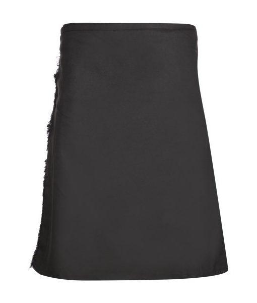 Килт «Plain Black» 8 ярдов, вид спереди