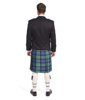 Пиджак Принц Чарли с жилетом на пять пуговиц. Вид сзади.