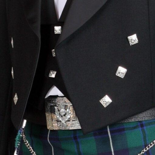 Жакет Принц Чарльз на три пуговицы. Лацкан.