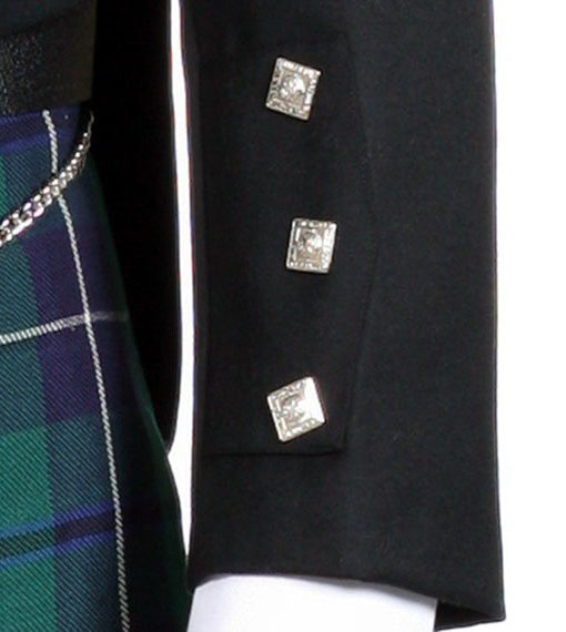 Жакет Принц Чарльз на три пуговицы. Лацкан. Рукав.