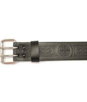 Кожаный ремень GMB033 с пряжкой и кельтским узором