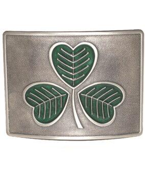 Пряжка с эмалью GMB13EAS «Ирландский Клевер»