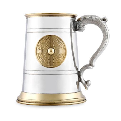Пивная кружка English Pewter EP168 с оловянным декором.