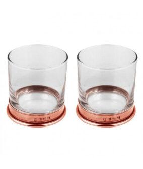 Набор стаканов для виски с утяжеленным оловянным дном