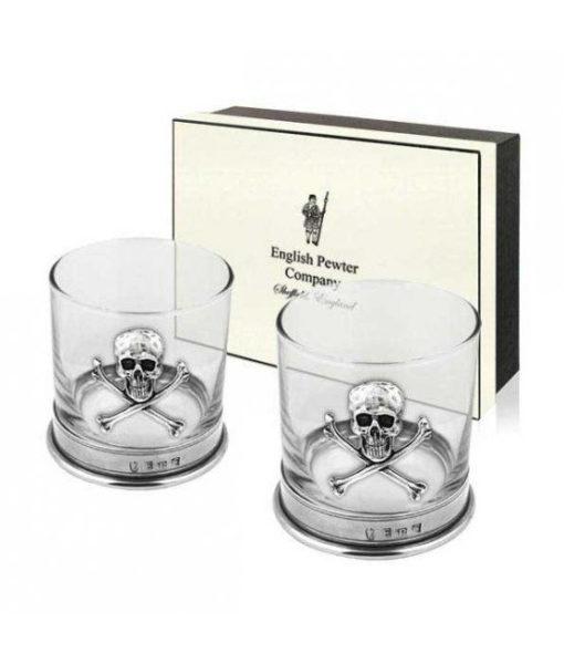 Набор стаканов для виски «Череп» с подарочной коробкой