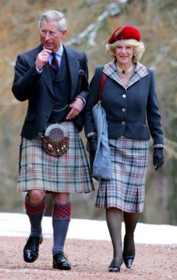 Принц Чарльз и герцогиня Корнуольская в тартане Балморал