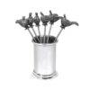 Набор металлических шпажек для коктейлей / оливок English Pewter PHS130
