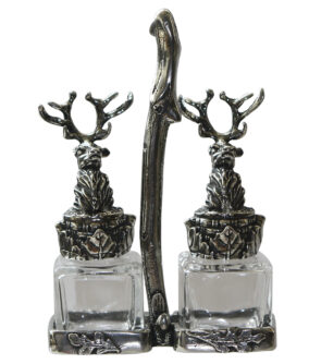 Солонка и перечница на подставке English Pewter STAG164