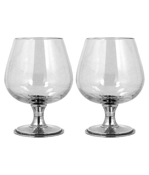 Английские бокалы для бренди с оловянным основанием VG016