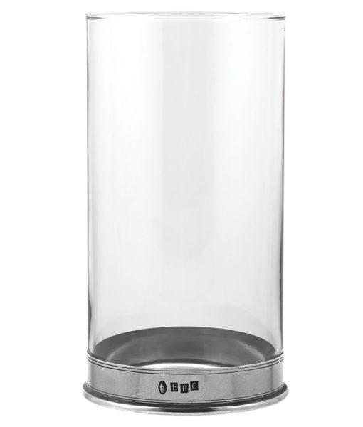 Стеклянная ваза для цветов с оловянным основанием VG082